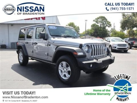 Pre-Owned 2019 Jeep Wrangler Unlimited Sport 4WD