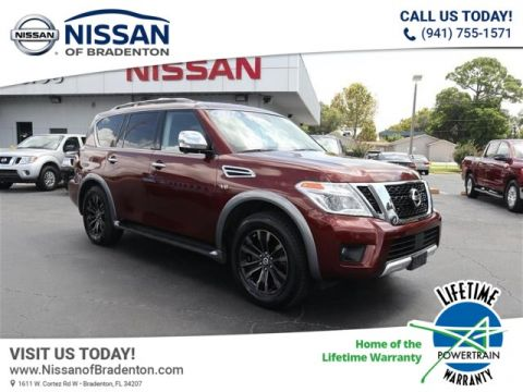 Pre-Owned 2017 Nissan Armada Platinum With Navigation & AWD